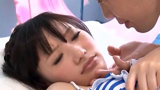 Exotic Japanese chick Mina Kanamori in Fabulous College/Gakuseifuku, Massage JAV clip