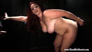 Brunette babes sucking random cocks in gloryhole