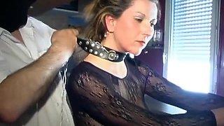 BDSM fuck of a skinny slut in handcuffs