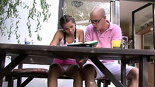 Young gf cheating with her BF's older man
