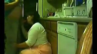 Getting nasty with my chubby mature Mexican wife in kitchen