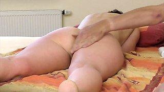 Asshole massage on hidden cam  vibrator orgasm!
