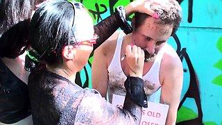 Femdom ladies dominate humiliation slaves