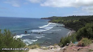 Exploring The Island Is Fun When Hime Flashes You - ATKGirlfriends