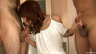 Gorgeous Aya skull fucked by a big cock