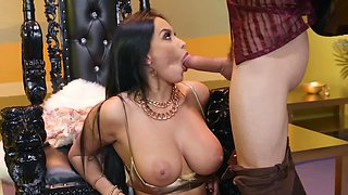 Guy penetrates ass of busty brunette stunner to join her harem