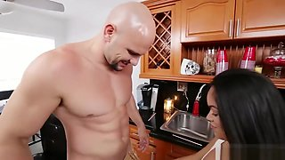 Huge Boobs Teen Babe Screwed By Massive Cock In The Kitchen