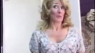 Cougar hot step mom convinces son to let her help out