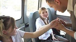 Sexy Teens Suck And Get Fuck In School Bus