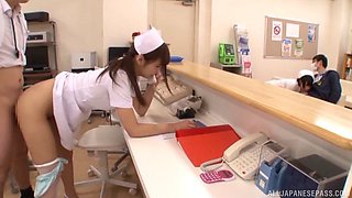 Sexy Japanese nurses at this hospital love to get fucked