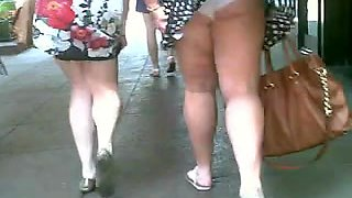 Couple of Chunny Chicks Get Their Skirts Blown
