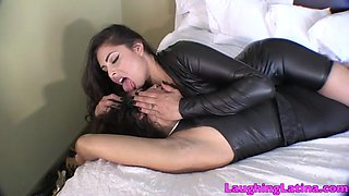 Sensual face licking