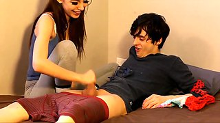 Panty sniffing stepbrother and pervert sister - kinky sex.