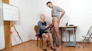 Mature Teacher Handjob/Blowjob Long Red Nails 3