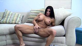Angela Salvagno Huge Labia Big Clit Huge Dildo