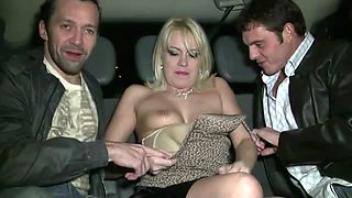 Sandrine cheats on her husband and gets gangbanged in her car