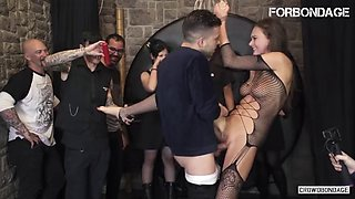 Forbondage hot babe end up bonded and hard fucked in bdsm