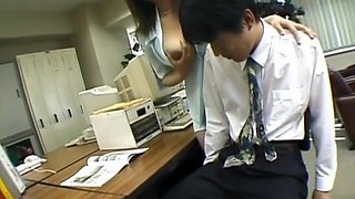 Yui Tokui hot secretary toy insertion