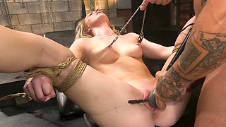 Amazing bondage sex leads young babe to insane anal orgasms