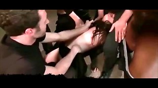 Brutal gangbang for young daughter