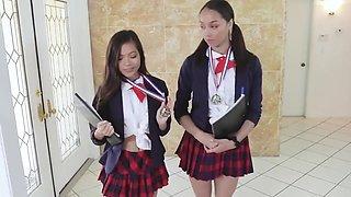 Cute Schoolgirls Get Dicked Down By Bwc Stud