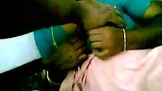 Horny man has fun with his juicy indian slut on bed