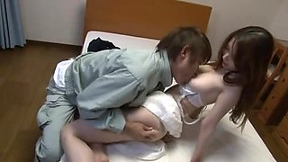 Hot Japanese bitch with big tits gets fucked and licked