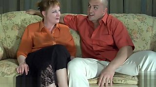 Hot mature mom brutal fucked by muscle boy