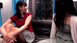 three japanese mature wife shaving in magic mirror