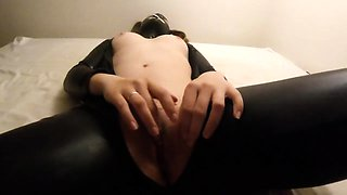Pigtailed cougar in latex gets treated like a slut in POV