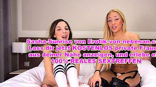 Crazy german ffm anal 3some with skinny young teens