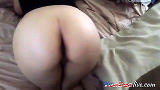 Amateur PAWG gets fucked and cummed on