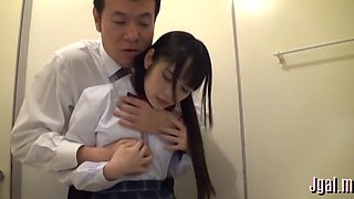 Horny nipponese bimbo feels a lever