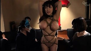 Big breasted Japanese milf enjoys bondage and hardcore sex
