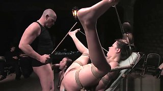 Bounded whore gruelling punishment