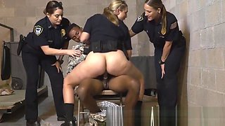 CFNM sex with two white horny cops