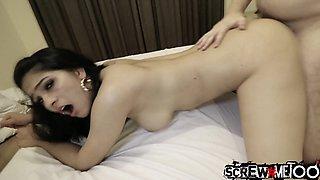 Bootyful Asian slut Ava Black gets slit licked and fucked doggy