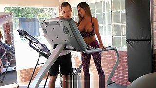 Latina MILF Reena Sky fucking at the gym