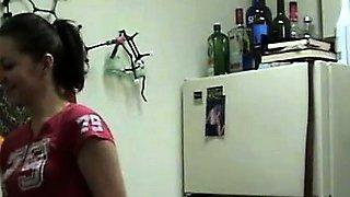 Amateur babe making solo exhibitionist video
