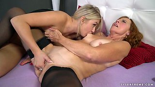 Sensual seductress Cayla Lyons gets her anus rimmed and licked by one old whore