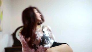 Beautiful korean girls in pantyhose