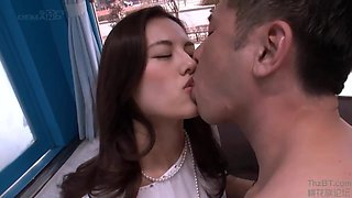 A Japanese Classy Housewifes Cheating Fuck In Magic Mirror Bus