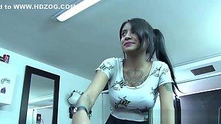 Teen latina pussy railed