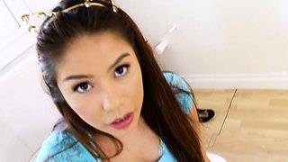DadCrush- Asian Stepdaughter Offers Her Step Dad A Foot Job