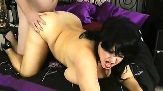Witchy BBW Big Boob Queen In Black Wig