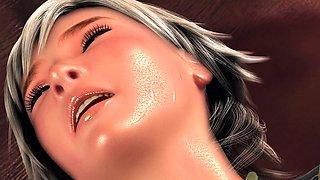 Helpless 3D beauty with big boobs enjoys an intense drilling