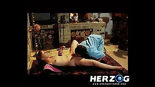 German blonde babe fucked in a retro porn video