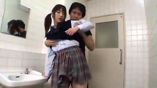 Schoolgirl Fucking In Public Toilet