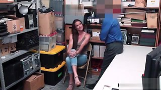 Ffrench MILF thief punish fucked on CCTV by LP officer