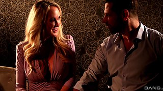 Romantic lovemaking in the evening with cock hungry MILF Brandi Love